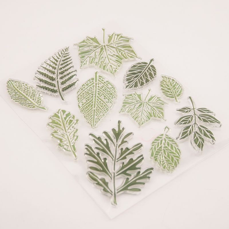 Leaf Silicone Clear Stamp Seal DIY Scrapbooking Embossing Album Paper Card Craft