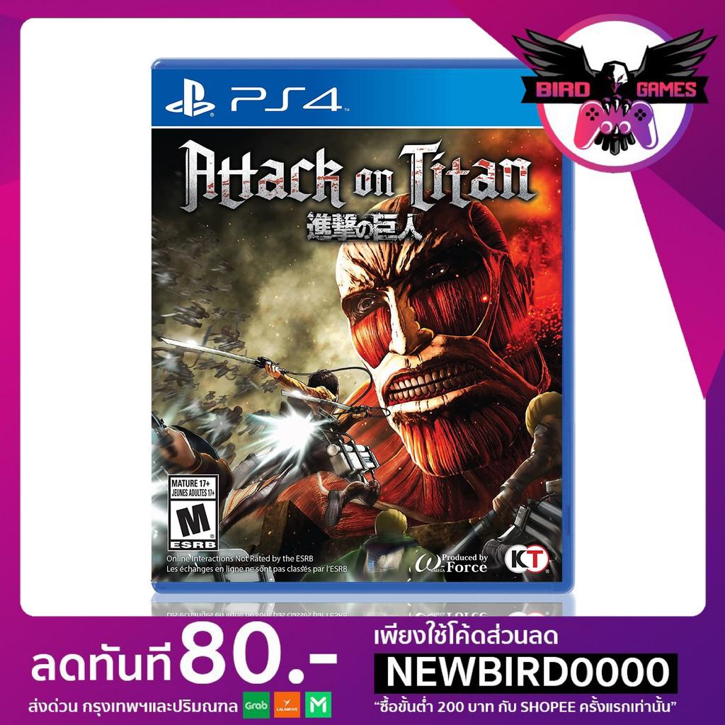 PS4 : Attack on Titan [แผ่นแท้] [มือ1] [เกมส์ps4] [เกมps4] [game ps4] [แผ่นเพล4] [aot] [aot ps4]