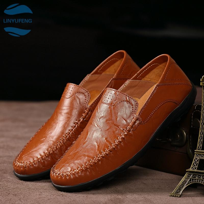 LYF➡ รองเท้าคัชชู loafer รองเท้าหนังแท้ รองเท้าหนังแฟชั่น รองเท้า รองเท้าหนังแบบผูกเชือกรองเท้าโลฟเฟอร์ ผู้ชาย 03