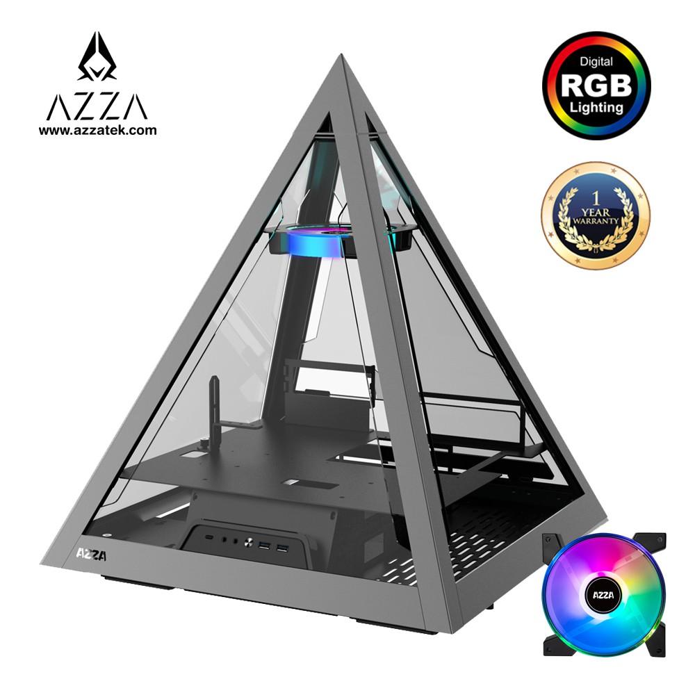 AZZA Innovative Tempered Glass ARGB Pyramid 804 - Aluminum