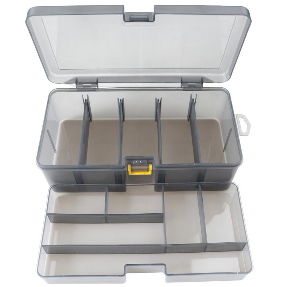 Plastic Fishing Lure Box Organizer Waterproof Case Saltwater Freshwater