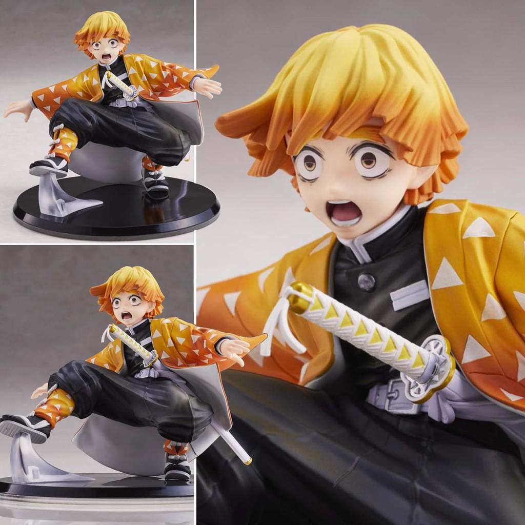 Figure ฟิกเกอร์ Model โมเดล Kimetsu no Yaiba Demon Slayer ดาบพิฆาตอสูร Agatsuma Zenitsu อากาสึมะ เซ็นนิตสึ ชุดกิโมโน