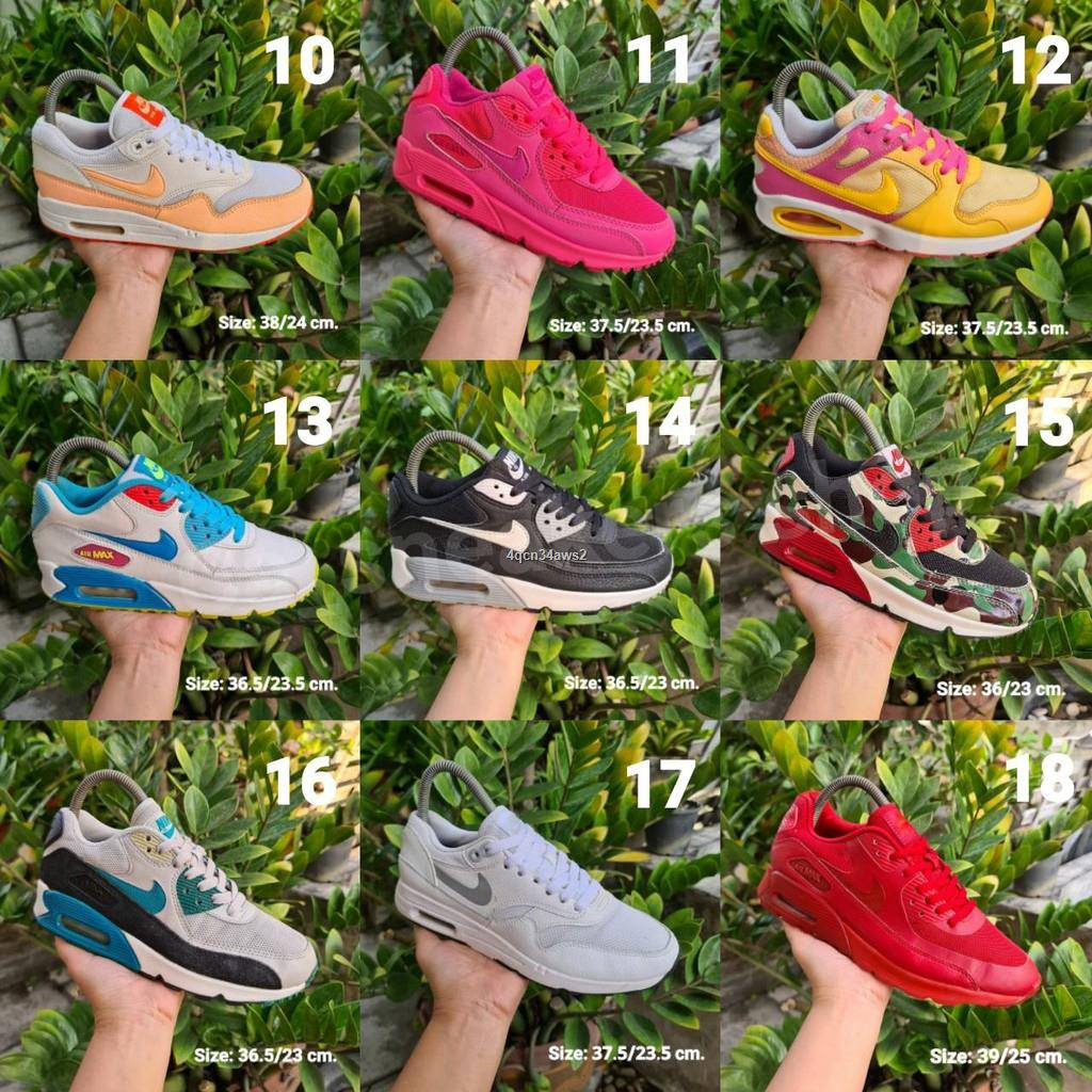 ส่งจากกรุงเทพ▤✙♚รองเท้ามือสองของแท้/AirEp.1/Airmax90/Airmaxone/รองเท้าลำลอง/รองเท้าวิ่ง/แอร์แม๊ก/