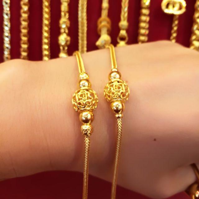 สร้อยมือทองแท้ 96.5% ส่งความรัก ให้ทุกคนที่คุณรัก น้ำหนัก 2 สลึง 15.5-16 cm. ราคา 15,400 บาท
