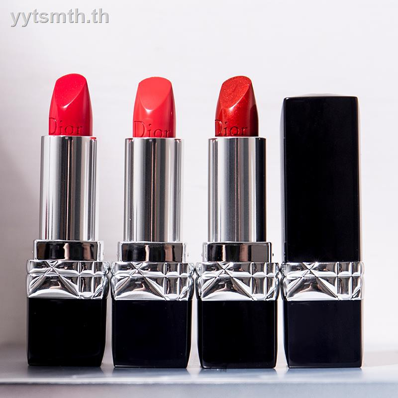 ◈✒999 matte moist metal classic Dior lipstick is red orange tube 888 641 740 quality goods
