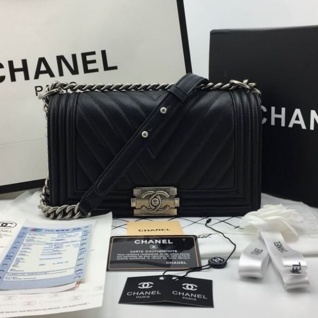 Chanel Boy​ Chevron​ 10''
