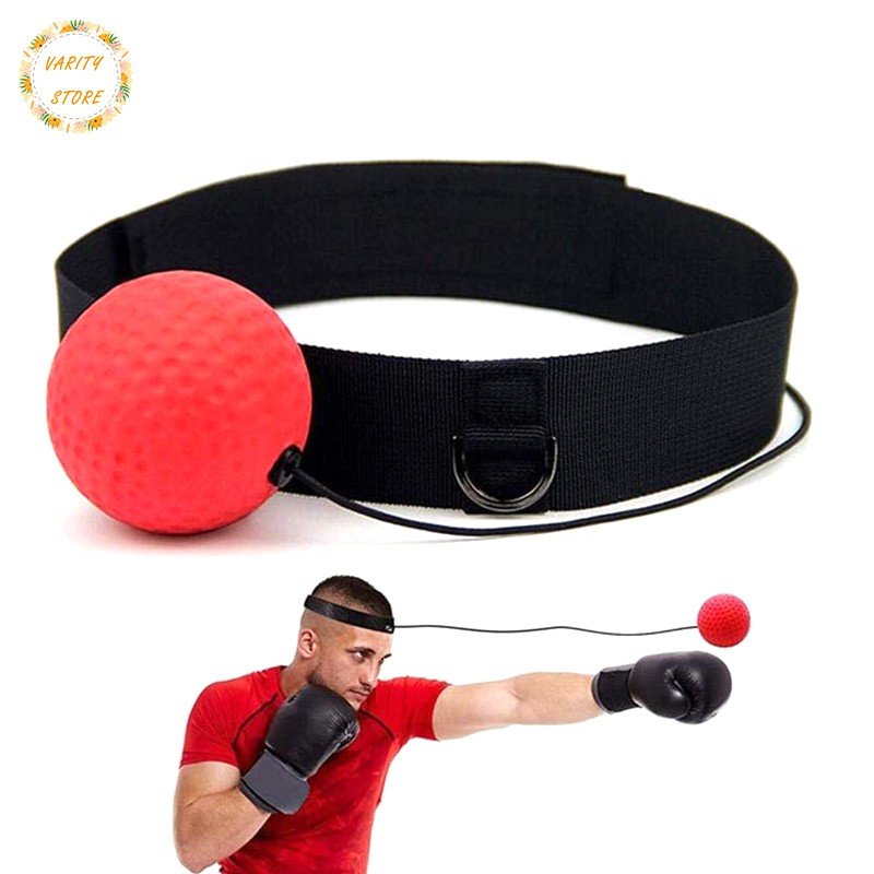 Hand Eye Training Set Head-Mounted Boxing Reflex Ball Raising Reaction Force jic