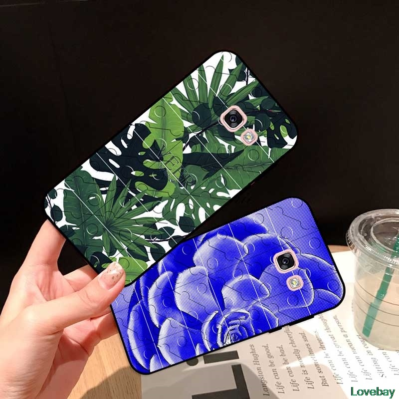 LOBY Casing Samsung A3 A5 A6 A7 A8 A9 Pro Star Plus 2015 2016 2017 2018 HXKYJ Pattern-5 Silicon Case Cover