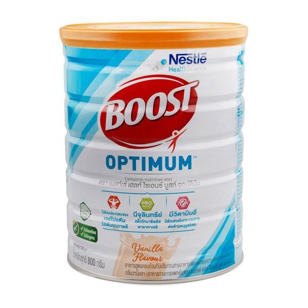 **หมดอายุ11/21 Nestle BOOST OPTIMUM 800กรัม บูสท์ ออปติมัม อาหารสูตรครบถ้วน เวย์โปรตีน