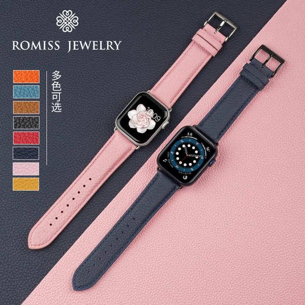 สาย applewatch หนังลูกวัวเยอรมันสาย iwatch6 applewatch5 / 4/3 / SE นาฬิการุ่นสายหนัง 40 / 44MM