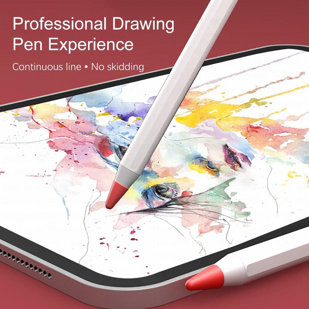 ❤️ถูกมาก พร้อมส่ง❤️ 8 ชิ้น/แพ็ค เคสปากกาไอแพด รุ่น 1,2 ซิลิโคนกันหัวปากกาไอแพด apple pencil tip nip silicone case cover