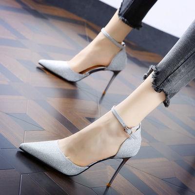 รองเท้าคัทชูผู้หญิง shoe สีดำ รองเท้าคัชชู รองเท้าส้นสูงสไตล์นางฟ้าหญิงกริชใหม่รองเท้าผู้หญิงอารมณ์ผู้หญิงส้นเล็กชี้รองเ