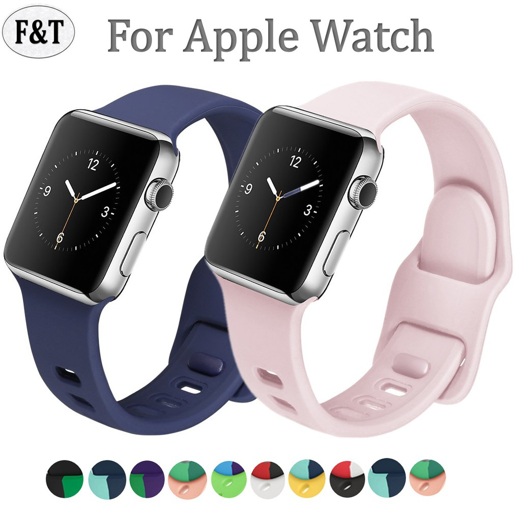 พร้อมส่ง‼️ สายสำหรับ Apple Watch สีมาใหม่ series 6 5 4 3 2 applewatch se, สายสำหรับ apple watch ขนาด 42mm 44mm 38mm 40mm สาย applewatch Strap