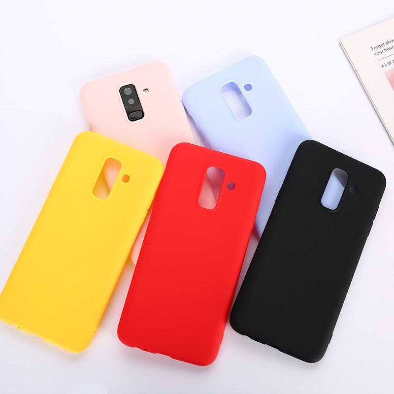 Samsung A7 A6 A8 J2 2018 A750 Plus A9 Pro Grand Prime G530 Casing Soft Candy Color Simple Phone Case
