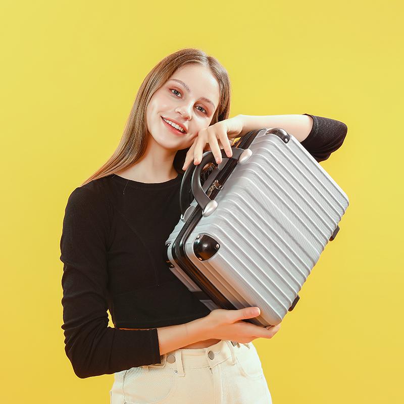 น้ำหนักเบากระเป๋าเดินทาง 12/14/16-นิ้ว สาวญี่ปุ่นน่ารักกระเป๋าเดินทางมินิเดินทางถุงเก็บแต่งหน้า mNOM