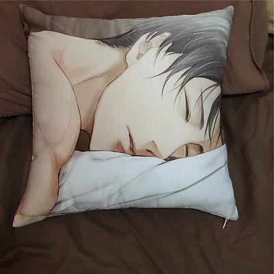 ปลอกหมอนเซ็กซี่ Suef Anime manga Game Attack on Titan Levi Anime two sided illow Cushion Case Cover 011 2NIt