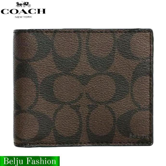 Coach กระเป๋าสตางค์ใบสั้นสําหรับผู้ชาย - สีดํา