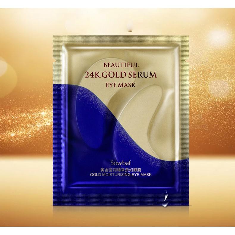 24 Gold Serum Eye Mask  มาส์กบำรุงรอบดวงตาสีทอง 1 แผ่น 7.5 กรัม