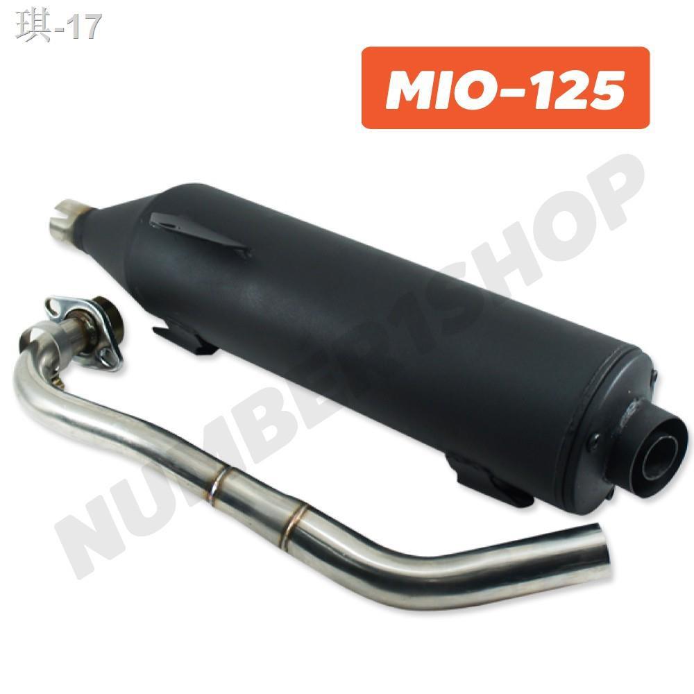 ✠☂ท่อผ่า สำหรับ MIO-125, MIO-125i  สีดำ