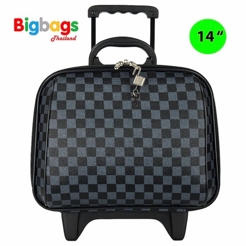 กระเป๋าเดินทางล้อลาก Luggage Polo  14 นิ้ว รุ่น 92214 (Grey Black) กระเป๋าล้อลาก กระเป๋าเดินทางล้อลาก
