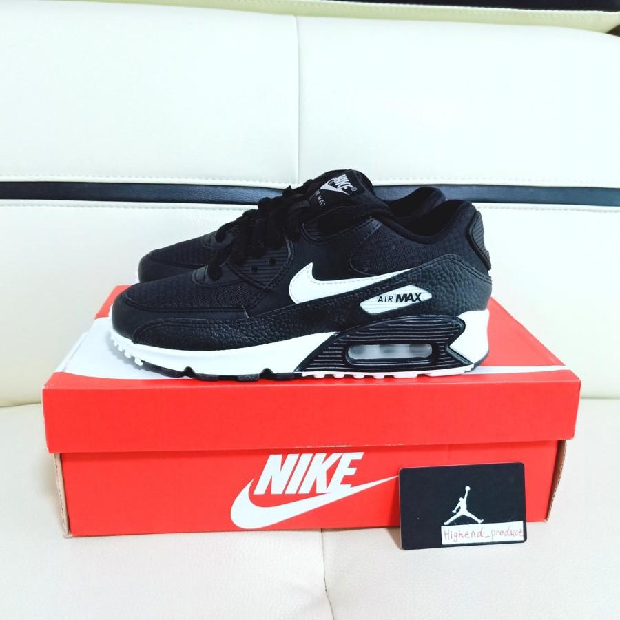 Nike Airmax 90 Black Summit 100% Original 325213-060 รองเท้าผ้าใบสีดําสําหรับผู้หญิง