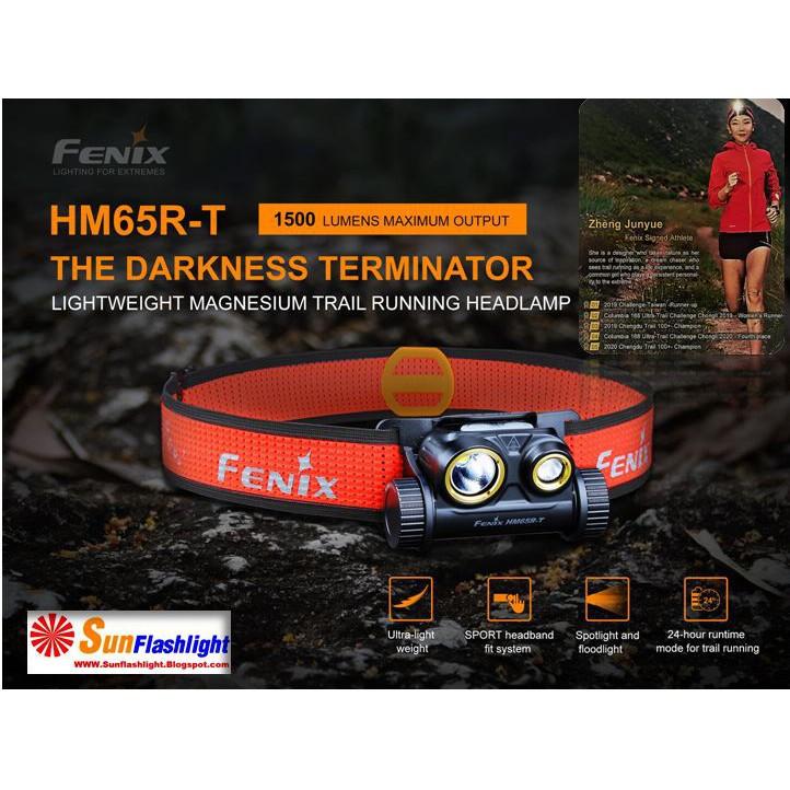 ไฟคาดหัว ไฟฉายคาดหัว ไฟฉายคาดหัววิ่งTrail  Fenix HM65R-T
