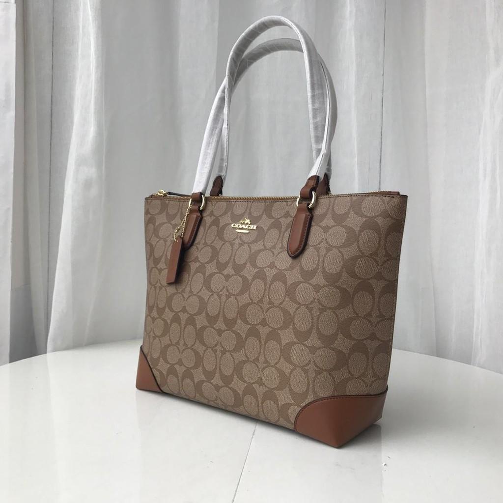กระเป๋าสตางค์ใบสั้น۩New Coach F29208 กระเป๋าสะพายผู้หญิงแท้ 100% กระเป๋าหนัง กระเป๋าสะพายแฟชั่น กระเป๋าช่องมองภาพขนาดเล็