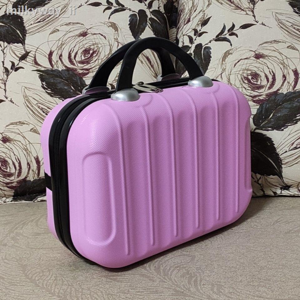 ✵เกาหลีรุ่น 14 นิ้วมินิกระเป๋าเครื่องสำอางกระเป๋าเดินทางขนาดเล็ก 16 นิ้วหญิงกันน้ำแบบพกพาจัดงานแต่งงานถุงแป้ง