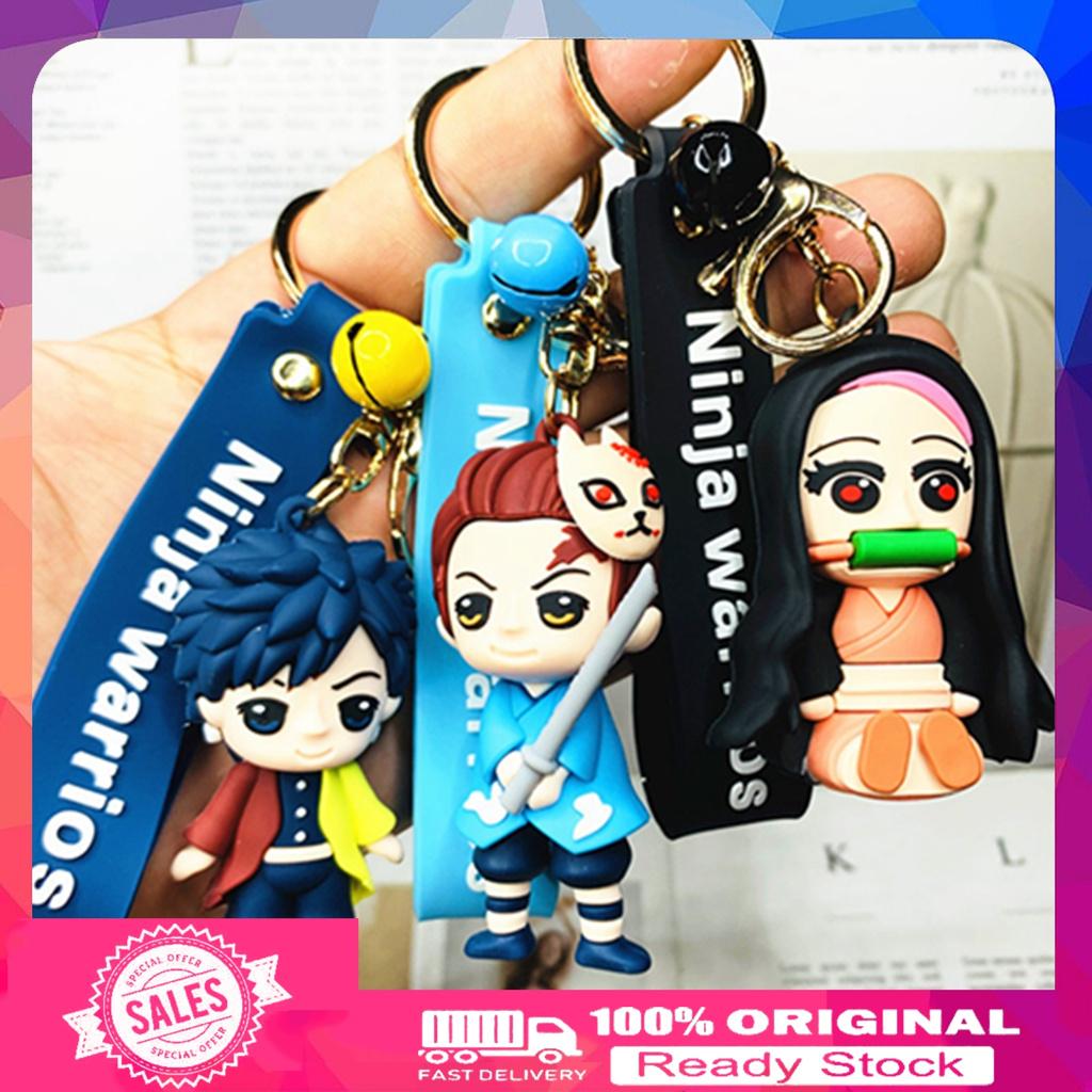 #WK Creative Anime Demon Slayer Model Figure Keychain Hanging Toy Bag Pendant Gift