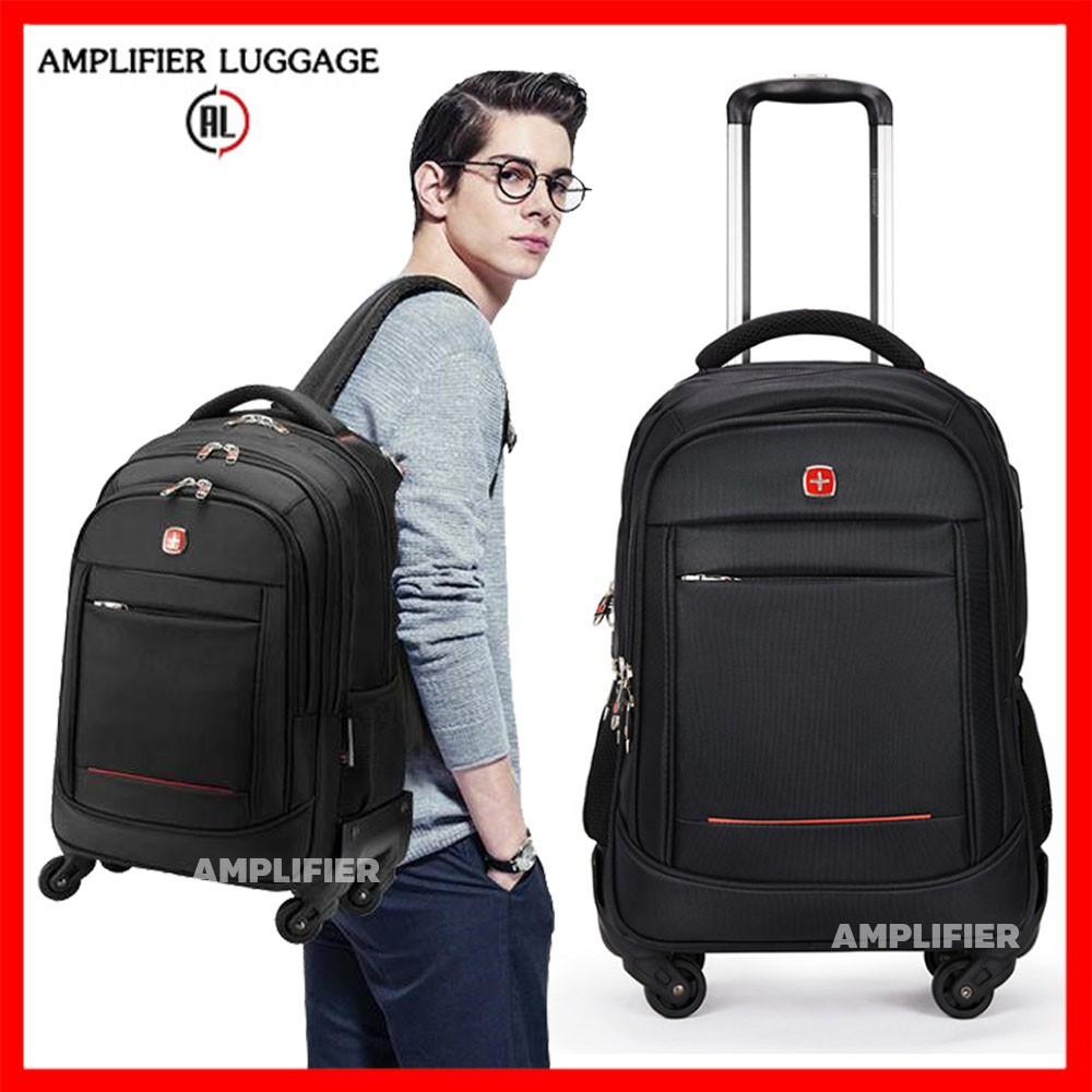 กระเป๋าเป้เดินทาง กระเป๋าเป้ใบเล็ก กระเป๋าเดินทาง เป้ล้อลาก กระเป๋าใส่คอมพิวเตอร์ กันน้ำ กระเป๋าเอกสาร 4 ล้อ มีช่อง USB