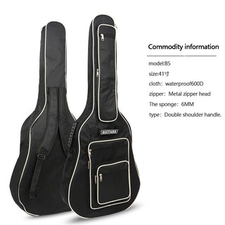 41 Inch Fully Padded Waterproof Guitar Cover Case Soft Music Acoustic Cla