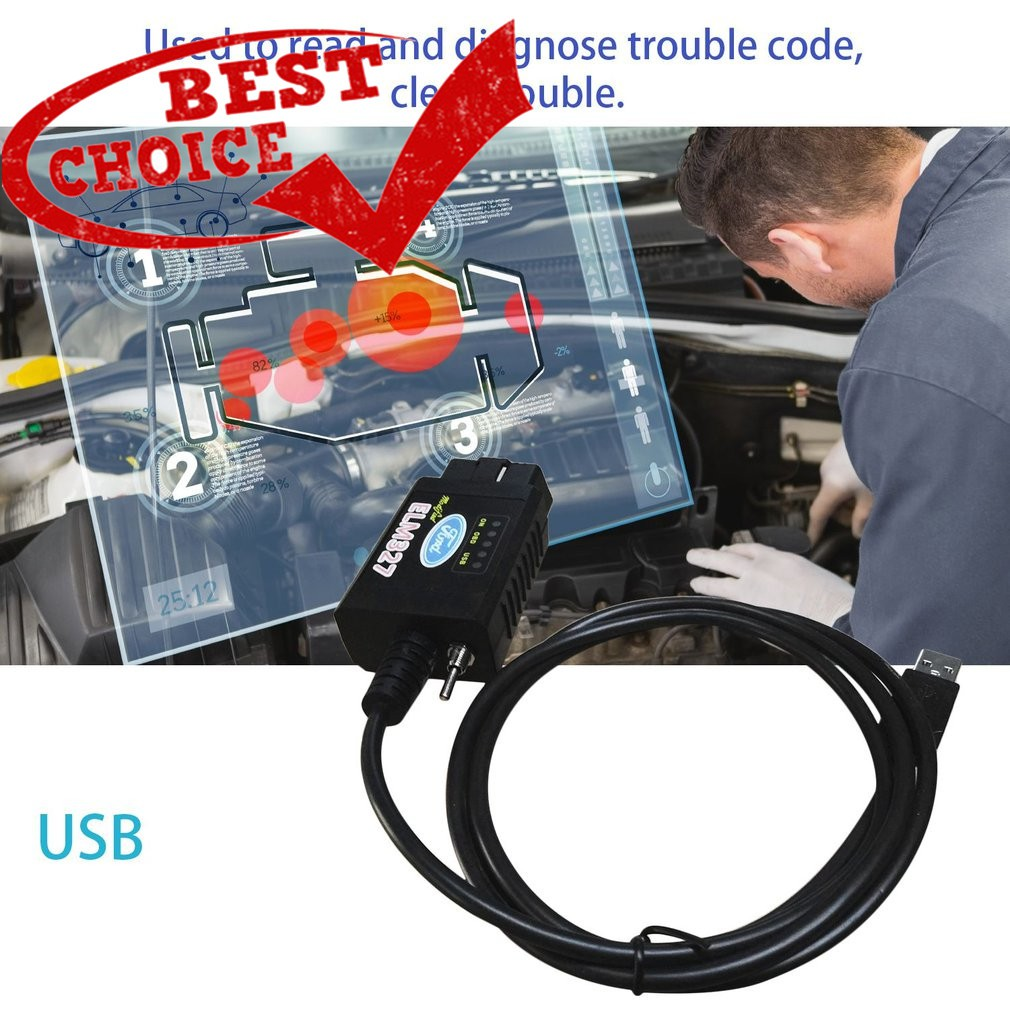 COD✅เครื่องใช้ไฟฟ้า USB Modified ELM327 MS-CAN HS-CAN Forscan OBD2  Diagnostic Scanner For Ford