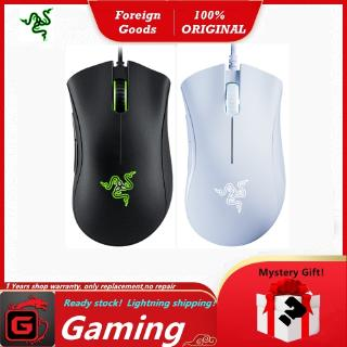 เมาส์สำหรับเล่นเกม.Razer Classic Gaming Mouse DeathAdder Essential 6400DPI.(Color Black/White)