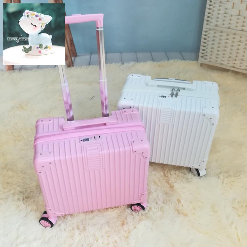 กระเป๋าเดินทางมินิน่ารักสำหรับนักเรียนกระเป๋าเดินทางขนาดเล็ก 16 นิ้วกระเป๋าเดินทางเล็กสดขนาดเล็ก 18 นิ้วกระเป๋าเดินทางย