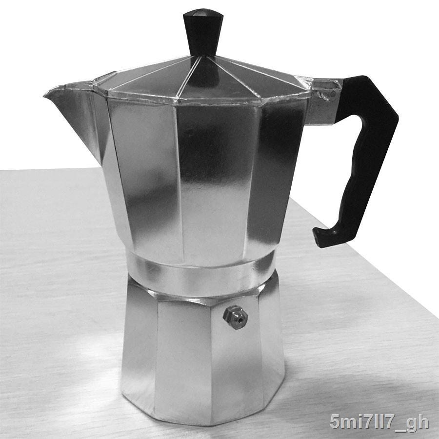 จัดส่งจากประเทศไทย﹍หม้อต้มกาแฟสด เครื่องชงกาแฟ มอคค่า กาต้มกาแฟสด เครื่องชงกาแฟสด เครื่องทำกาแฟ แบบปิคนิคพกพา วินเทจ