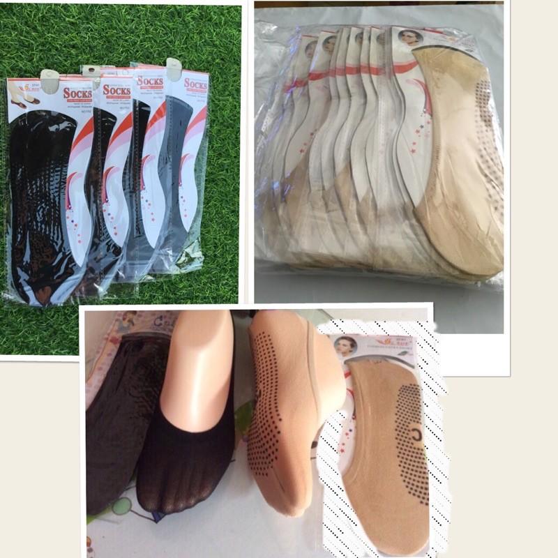 ถุงเท้าข้อต่ำ ถุงเท้าเนื้อน่อง ผ้าไลคร้ามีกันลื่น 🎯โคตรถูก🎯 ใส่กับคัชชู  รองเท้าอื่นๆ