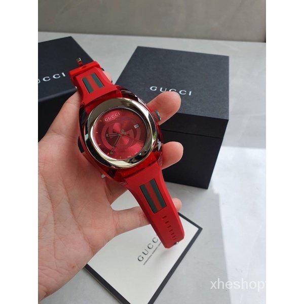 ผ่อน0%~แท้100% Gucci Sync YA137102 Watch Quartz Silver Dial