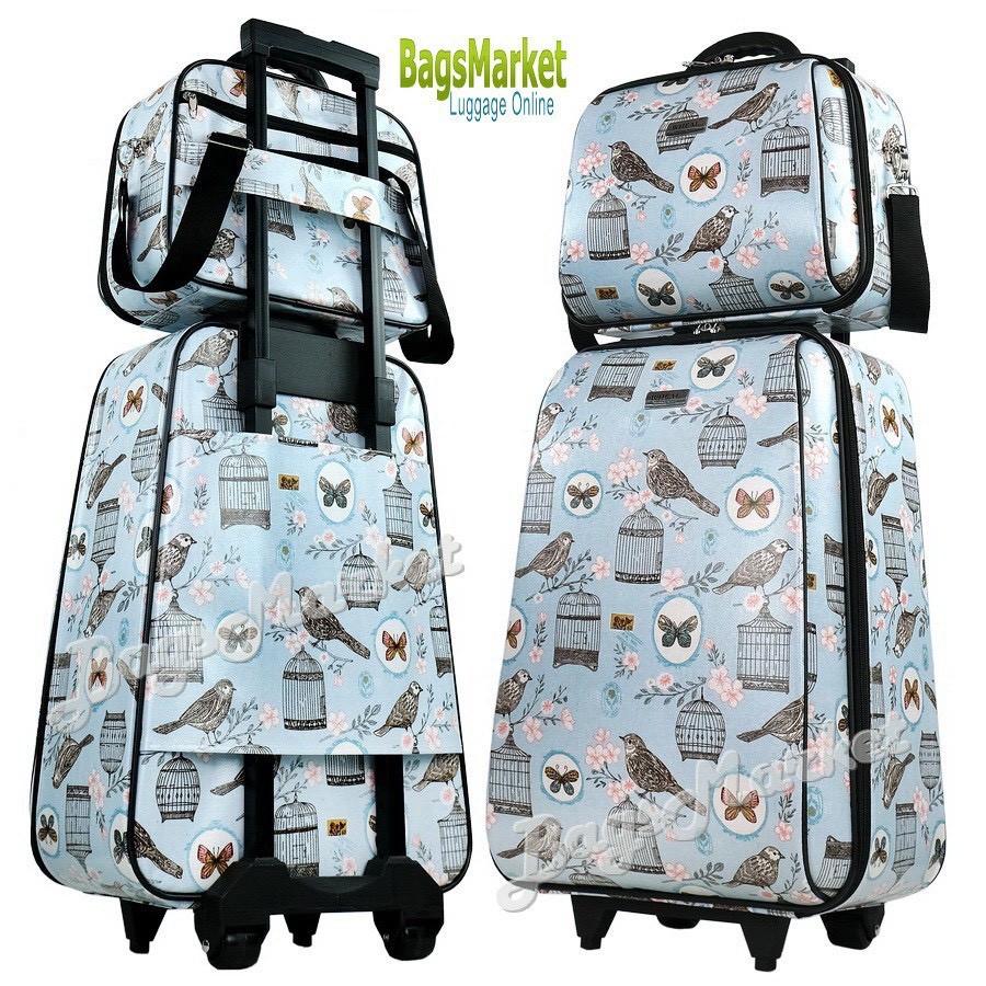 ◊BagsMarket Luggage 🔥 กระเป๋าเดินทางล้อลากขนาด 20/14 นิ้ว เซ็ท 2 ใบ ลายการ์ตูน Snoopy NavyBlue