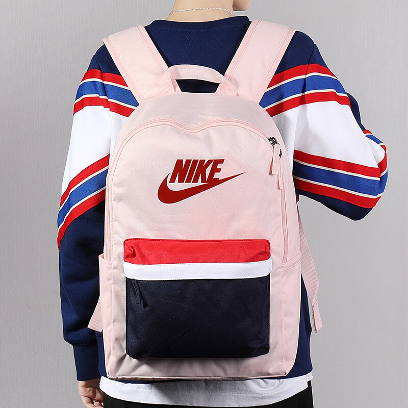 Nike กีฬาแล็ปท็อปสำหรับเดินทางกระเป๋าสะพายไหล่สบายๆกระเป๋าเป้สะพายหลังขนาดใหญ่ผู้ชายมัลติฟังก์ชั่นักเรียน schoo
