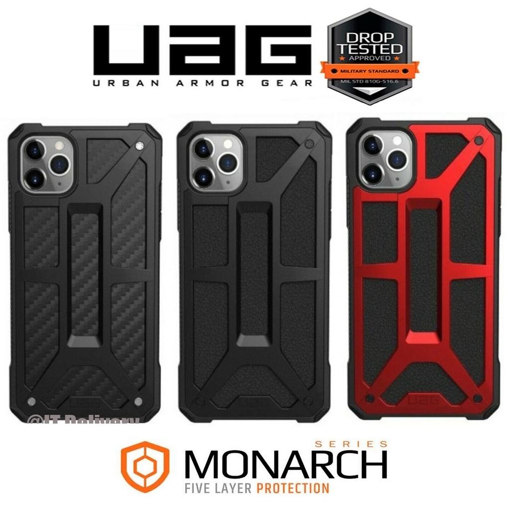 【In stock】UAG สุดขีด คาร์บอนไฟเบอร์ ยูเอจี เคสiPhone 11 PRO MAX XS  XR X 8 7 6 6s Plus เปลือกหอย เคสป้องกัน เคสและซองมือถือ case