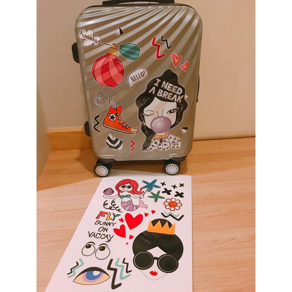 สติกเกอร์ติดกระเป๋าเดินทาง