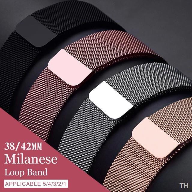 สะดวกสบาย♙♦☁✅✅✅✗สาย สำหรับ apple Watch Band Milanese Loop Series 1 2 3 4 5 6 44 มม 40 38 42 applewatch se 4.7