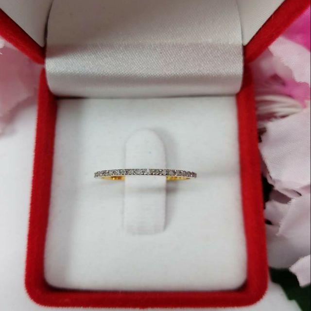 แหวนเพชรรอบนิ้ว ทองคำแท้ ราคาโรงงาน
