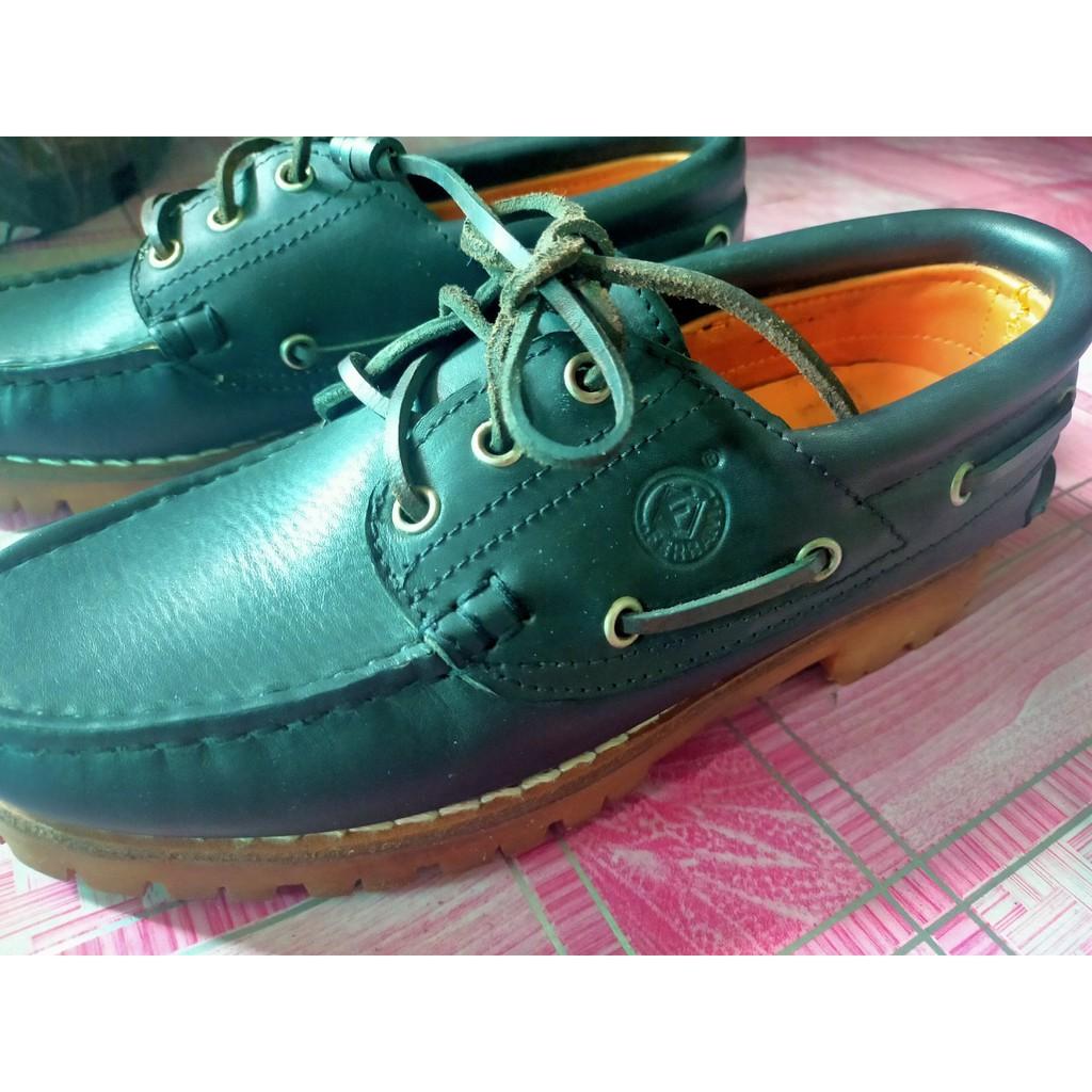 [มือสอง] รองเท้าคัชชูหนังดำ เบอร์ 39 FERRANI style Italy แบบผูกเชือก