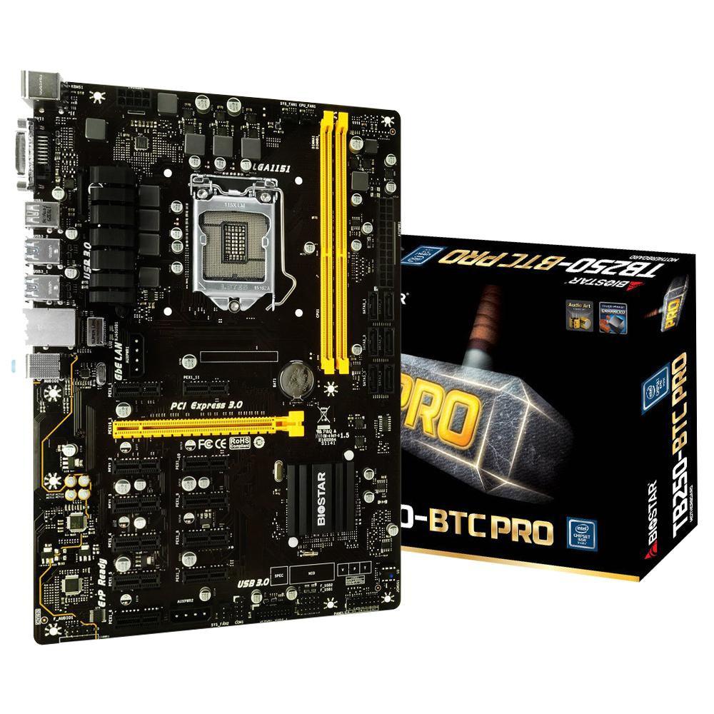 Biostar Tb250 Btc Plus 8 Gpu Support Lga 1151 Intel B250 Ddr4 Motherboard Bitcoin Mining Eth Strek 3y Shopee Thailand