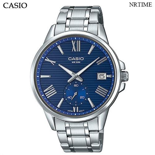 NRTIME Casio นาฬิกาข้อมือผู้ชาย สายสแตนเลส รุ่น MTP-EX100D-2AVDF,MTP-EX100D-2A eJSg