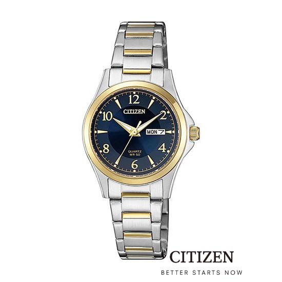 CITIZEN EQ0595-55L Silver/Gold Lady Watch Quartz