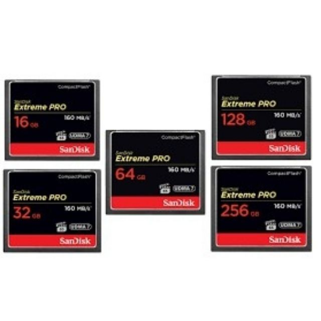 New Sandisk Extreme Pro 64 Gb Compact Flash CF Memory Card 160MB//s UDMA7 4K