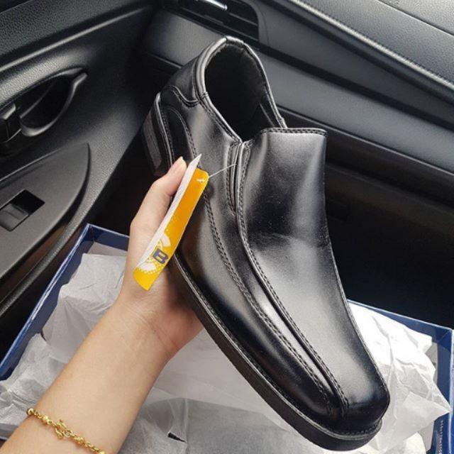 รองเท้าเซฟตี้ รองเท้าหนังผู้ชาย รองเท้าหนัง รองเท้าคัชชู ผู้ชายสีดำแบบหัวตัด แบบสวม