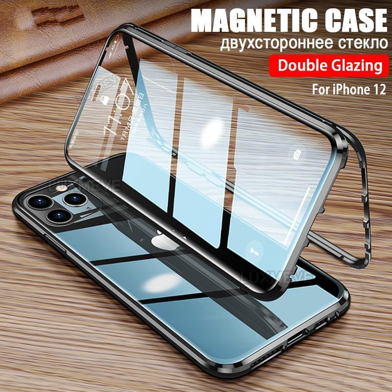 เคสโทรศัพท์มือถือแบบสองด้านสําหรับ Iphone 11 Pro Max 12